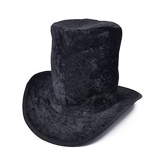 Hoge hoed fluweel zwart