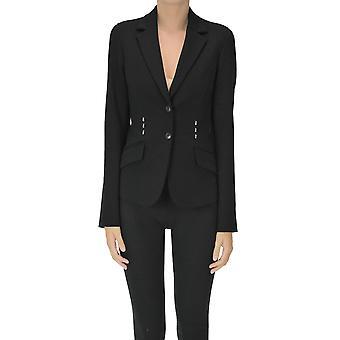Alberta Ferretti Ezgl095048 Women's Black Viscose Blazer