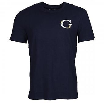Denk dat G Space Navy Logo Crew Neck T-shirt M0YI86J1300