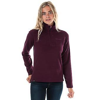 Women's Berghaus Prism Micro Fleece Polartec Half Zip Top en púrpura