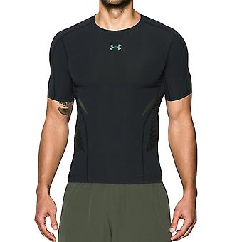 Under Armour Mens HeatGear Zone Short Sleeve Base Layer Compression Top - Black