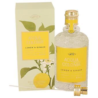 4711 Acqua Colonia Lemon & Ginger Eau De Cologne Spray (Unisex) By Maurer & Wirtz 5.7 oz Eau De Cologne Spray