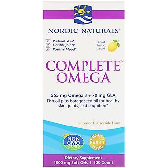 Nordic Naturals, Complete Omega, Lemon, 1000 mg, 120 Soft Gels