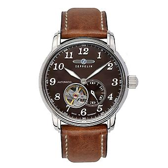 Zeppelin 7666-4 LZ127 Graf Brown Dial Automatic Wristwatch