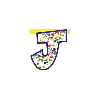 Linking Banner 20cm Letter - J Party Decoration