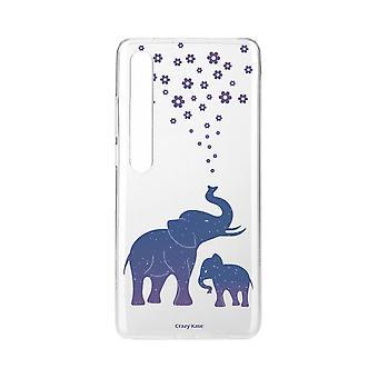 Hülle für Xiaomi Mi 10 Pro Weich Elefant Blau