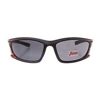 sportzonnebril unisex bordeaux/zwart met grijze lens