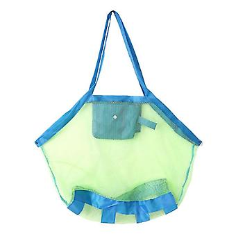 Children Beach Mesh Toys Game Bag- Organizer Kids Folding Sand Away Net Tote Outdoor