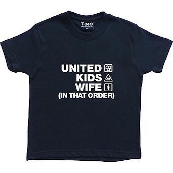 United Kids Moglie (In quell'ordine) Navy Blue Kids' T-Shirt