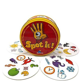 Double Card Table Board For Dobbles Kids Spot Cards - It Goes Camping Metal Tin Box Shalom Basic English Toys