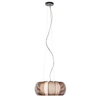 BRILLIANT Lampe Relax Suspension 40cm bronze/chrom   2x A60, E27, 30W, g.f. lampes normales n.   Réglable en hauteur