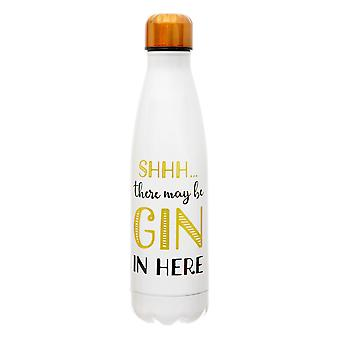 Sass & Belle Shhh? There's Gin hier Stainless Steel Water Bottle