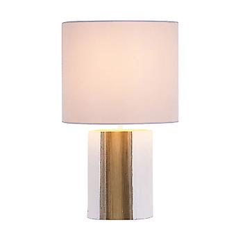 Table lamp Zapopa white & Wood natural 24 x 39 cm 10943