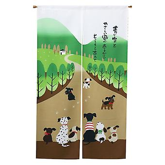 Doorway Curtain Tapestry For Home Decoration 33.5 Inch X 59 Inch, Happy Dog