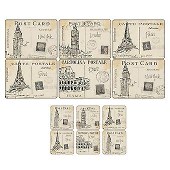 Pimpernel Postcard Sketches Placemats & Coasters, Set of 6
