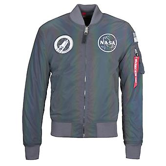 Alpha Industries MA-1 NASA Rainbow Reflective Flight Jacket