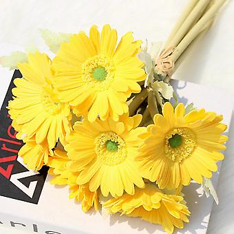 Artificiale Gerbera Margherita Realistico Falso Fiori Bouquet 7 Pcs