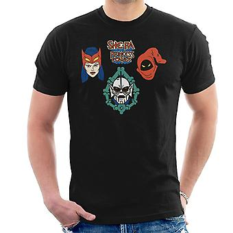 She-Ra Princess Of Power Character Heads Men's T-Shirt
