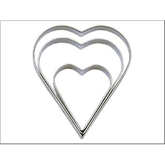 Tala Plain Heart Cutters Set x 3 10A09518