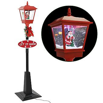 Christmas street lamp with Santa Claus 180 cm LED