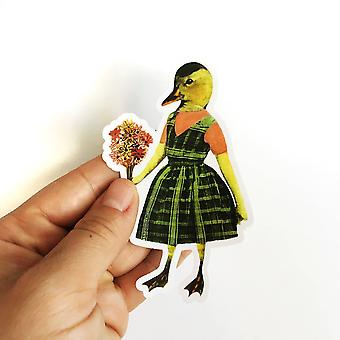 Duck Girl Vinyl Sticker
