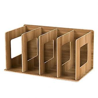 Einfache mehrstufige Bücherregal, 4 Gitter Original Aufbewahrungsregal für Bücher Sundries