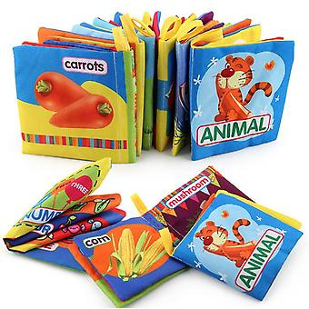 6 Infant Early Learning Enlightenment Cloth Books, Interesting Interactive Books, Inspiring Books