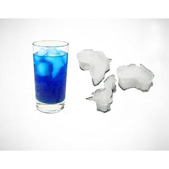 Global Warming Continents Ice Cube Tray