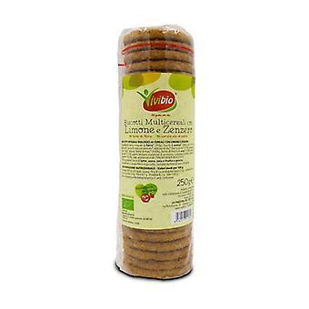 Biscoitos multigrãos com sabor a gengibre e limão None