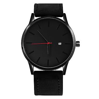 Fashion Leather Quartz Casual Sports Wristwatch's