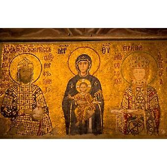 Sisätilojen Hagia Sophia Istanbul Turkki Juliste Tulosta mennessä Darrell Gulin