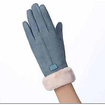 Double Layer Suede Thick Warm Gloves Winter Gloves Women Winter