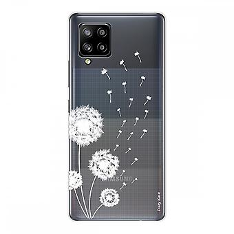 Scafo per Samsung Galaxy A42 5g in Silicone Soft 1 Mm, Pissenlit Flower