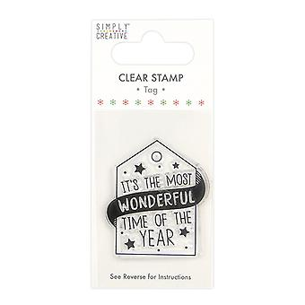 Simply Creative Tag Clear Stamp Wonderful Time