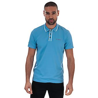 Heren's Ted Baker Bunka Polo Shirt in Blauw