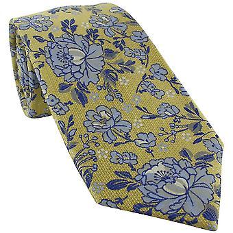 Michelsons av London Detaljert Floral Silke Slips - Gul