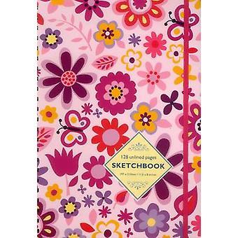 Sketchbook Pink Flowers by Peony Press