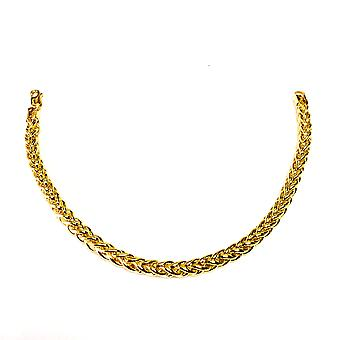 """14K Yellow Gold Filled Round Franco Chain Bracelet, 6.0mm, 8.5"""""""