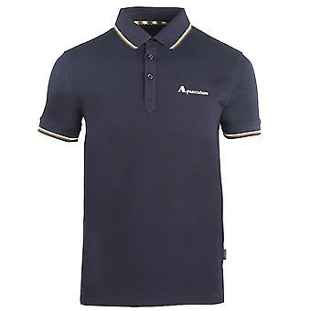 Aquascutum Marke Logo Marine Polo Shirt