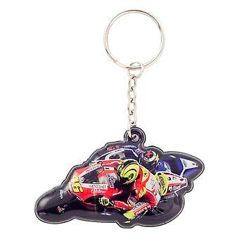 MotoGP PVC Valentino Rossi #46 Knee Down Factory Ducati Keyfob