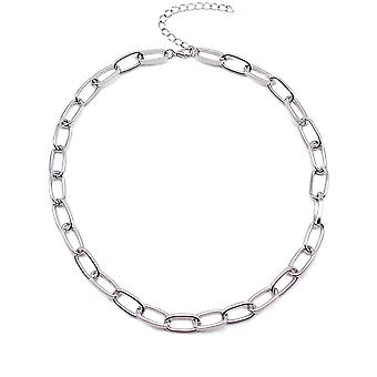 Box Chain Toggle Clasp Mixed Linked Circle Necklace