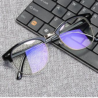 Vintage Unisex Anti Blue Ray Glasses Working Square Frame Eyeglasses Men
