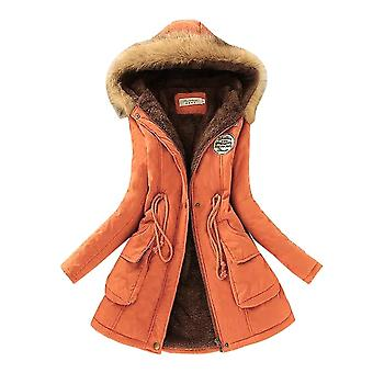 Women Cotton Winter Jacket, Outwear Long Coat