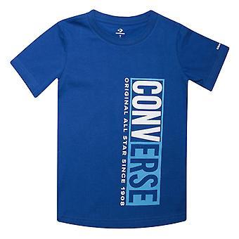 Gutt's Converse Spedbarn Split Box T-skjorte i blått