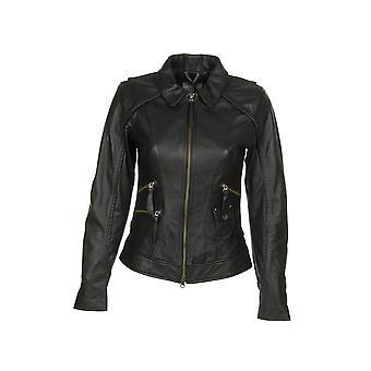 Harley-Davidson Women's Jacket Heritage Black Leather - Model 98064-13VW