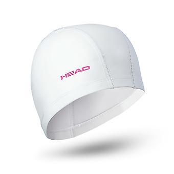 Head Nylon/Lycra PU Coating Swim Cap - White