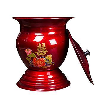 Iced Bar Home Wine Barrel med lock, retro kinesisk fruktkorg, hållbar vintagevinishållare