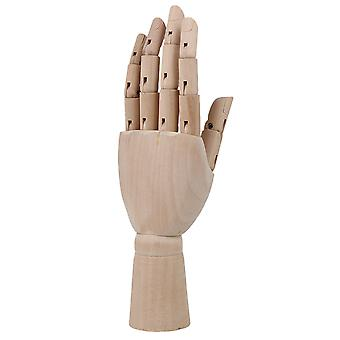 7.28 pouces Artiste en bois articulé main gauche Manikin Gift Art Model Hand Toy