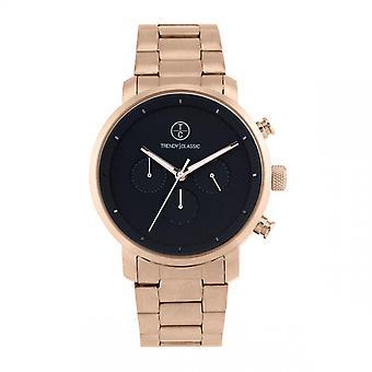 Trendy Classic horloge CMRG1045-02-impuls chronograaf Bo tier staal dor staal roze stalen armband dor Rose zwarte wijzerplaat mannen