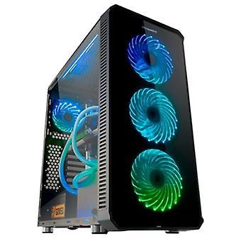 Micro ATX / Mini ITX / ATX Midtower Case NOX Hummer TGM LED RGB USB 3.0 Svart